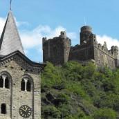 Bildergalerie von Wellmich, Burg Maus und der Kirche Sankt Martin